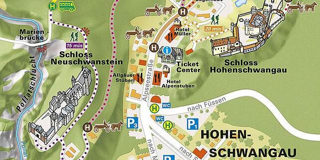 Percorso del Castello di Neuschwanstein