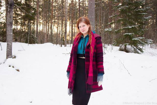 villakangastakki, kotimainen villakangastakki, talvitakki, raidallinen talvitakki, ompelimo rokitan vaatteet