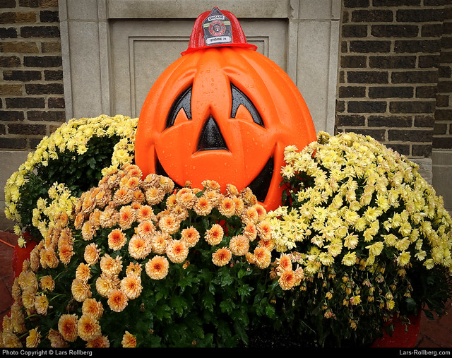 Halloween, Engine 78, Wrigley Field, Chicago, United States