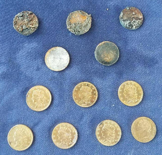 12 Coins from Pulaski wreck