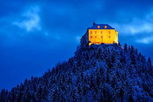 austria burgstrechau forest sel70200g steiermark strechau styria wald winter a7ii bluehour castle hills ilce7ii longexpusure mountain night sony österreich at