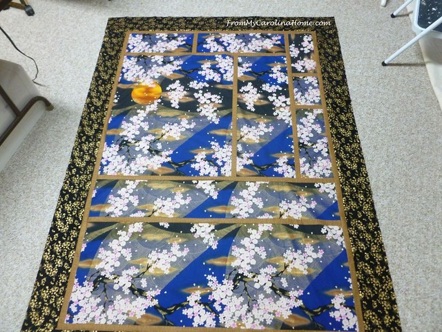 Sakura Tsuki Art Quilt at From My Carolina Home