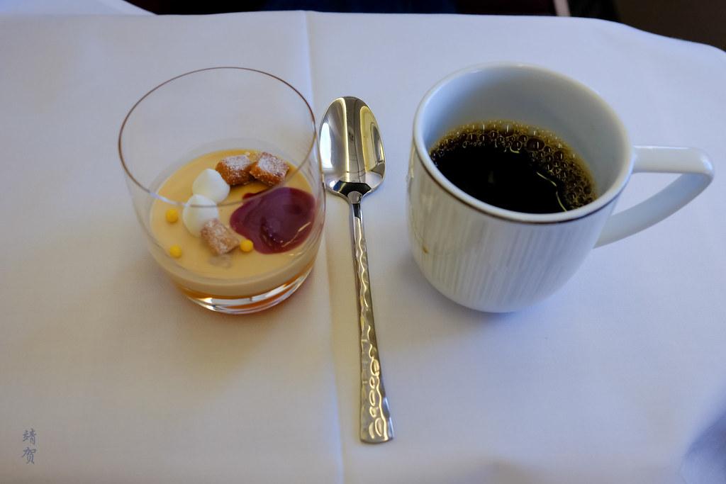 Dulcey chocolate panna cotta and coffee