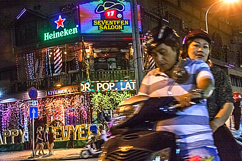Couple on Pham Ngu Lao--Saigon