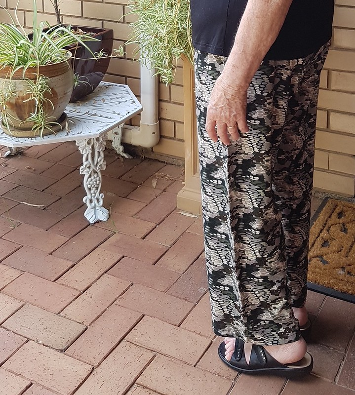 Style Arc Peta pants in printed rayon from Darn Cheap Fabrics