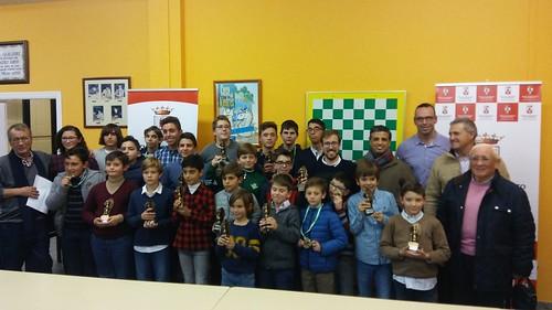 Entrega de premios del Torneo Navideño de Ajedrez