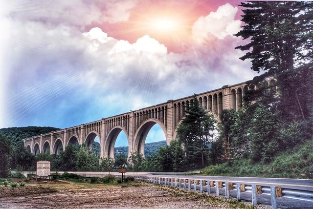 Nicholson - Pennsylvania - Wyoming County - Tunkhannock Creek Viaduct  - 1912