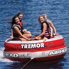 Airhead Tremor Chariot Inflatable Water Tube 4 Rider Boat Tow Towable AHTM-4
