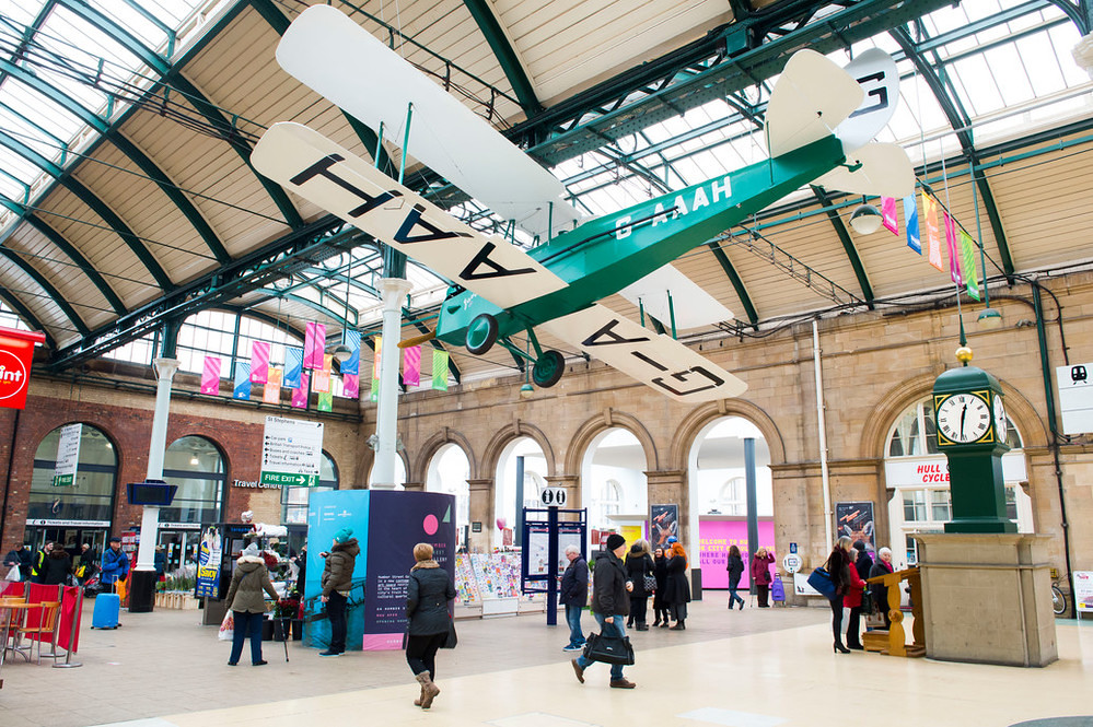 Gipsy Moth full-scale model at Paragon Station. Photo © Sean Spencer/ Hull News & Pictures.