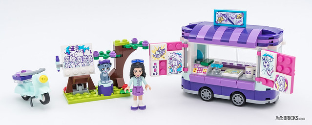 REVIEW LEGO Friends 2018 - LEGO 41332 Emma's Art Stand