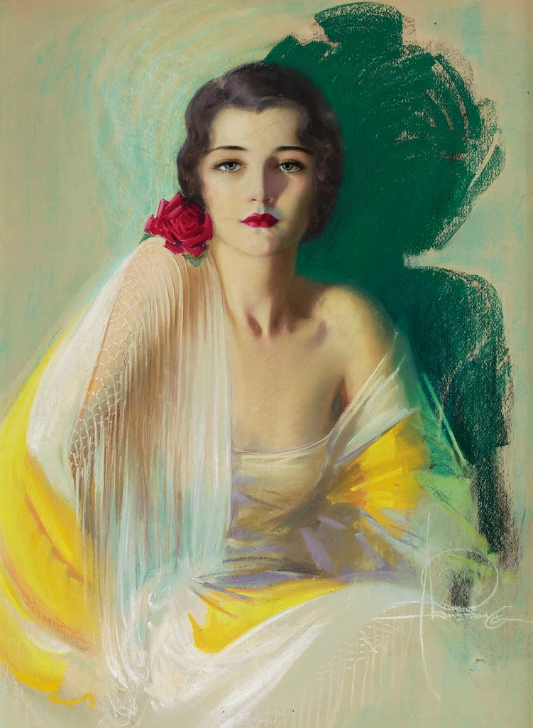 Rolf Armstrong - Female portrait