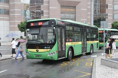 New Era bus arrives at the Praça de Ferreira do Amaral bus interchange