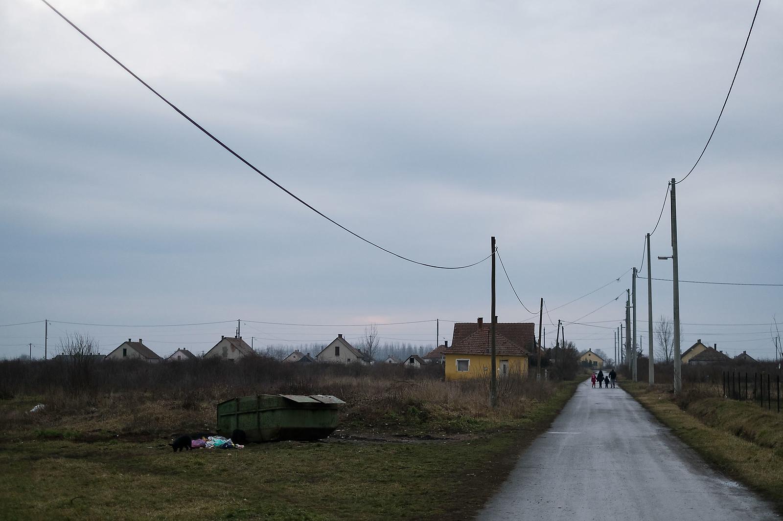 Konténer a bűdi telepen Tiszavasváriban | Fotó: Magócsi Márton