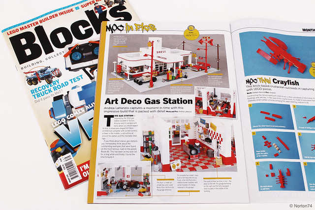 Blocks # 39 - January 2018 - featuring the Art Déco Gas Station
