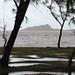 L'île Hermitage vue de Mourouk par temps de pluie