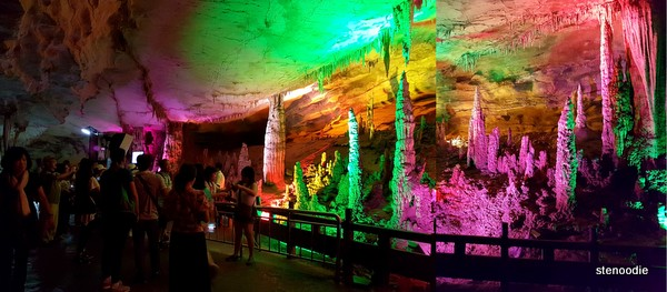 Colourful stalagmites