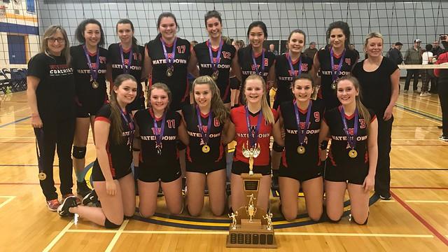 2017-18 Senior Girls Volleyball Champions: Waterdown Warriors