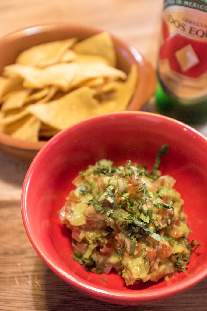 Guacamole with Homemade Tortilla Corn Chips