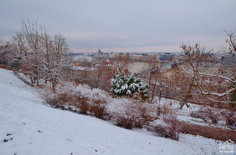 Winter views of the Danube and Houses of Parliament from Buda side - Budapest places to visit and things to do
