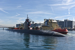 USS Annapolis (SSN 760) arrives at Naval Base Point Loma, Feb. 2. (U.S. Navy/MC2 Derek Harkins)