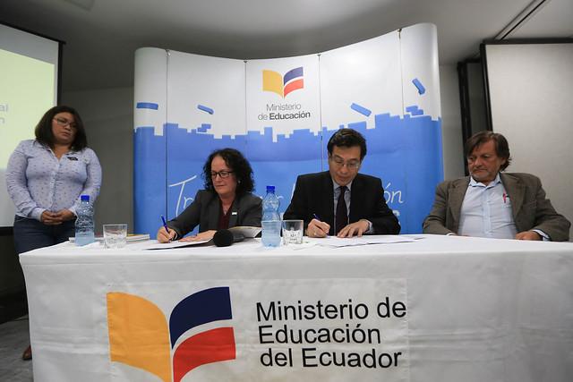 FIRMA DE CONVENIO MINEDUC - PLAN INTERNACIONAL