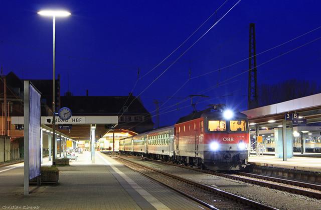ÖBB-Klassiker zur blauen Stunde, Canon EOS 7D, Canon EF 24-105mm f/3.5-5.6 IS STM