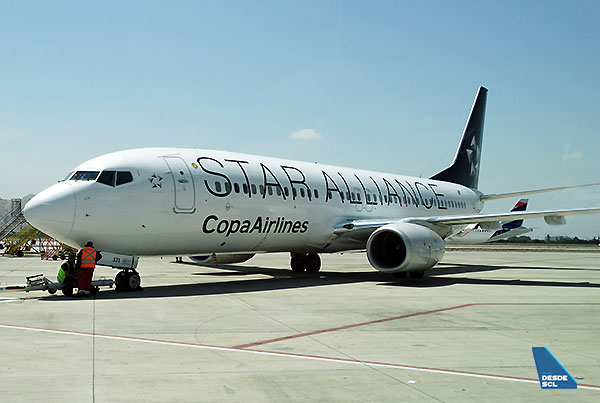 Copa Airlines B737-800 Star Alliance pushback (RD)