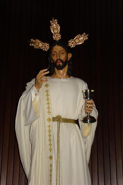 """Hermandad Parroquial y Sacramental de la Sagrada Cena, Jesús Humillado y Nuestra Señora del Amparo y Compasión (Un Paso). """"Santa Cena""""."""