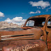A GHOST AT THE WHEEL ::: Rhyolite, Nevada