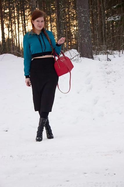 croptop style, outfit, finnish styleblogger, talvi asu