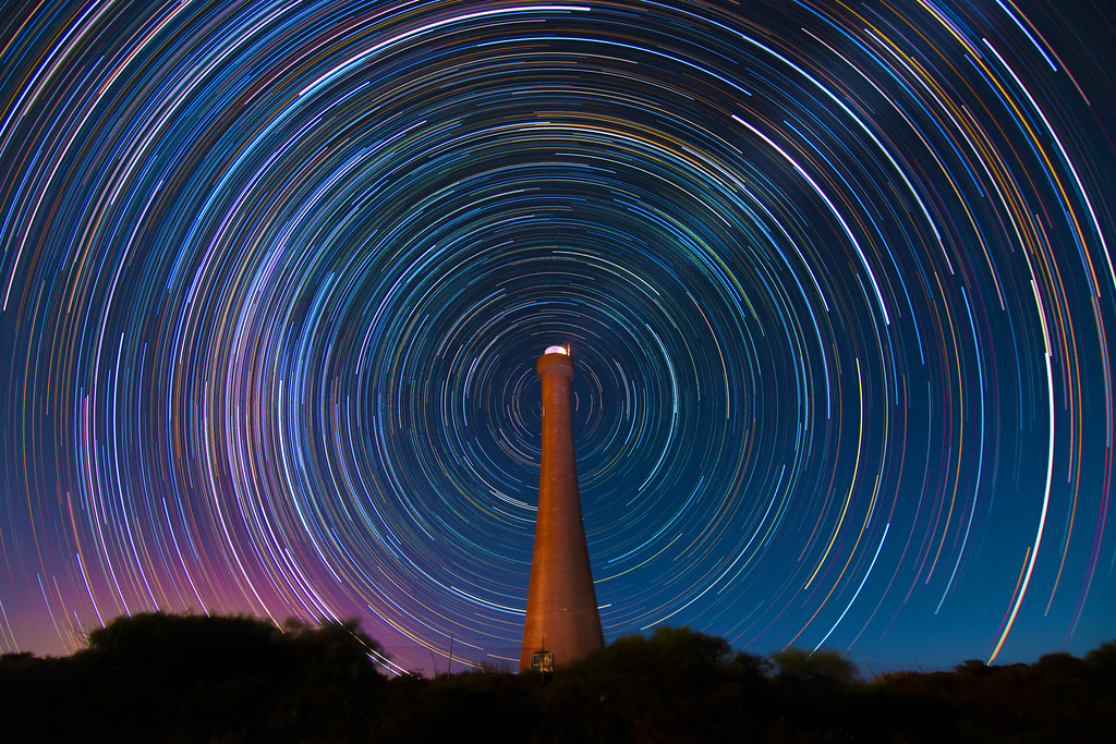Star Trails at Guilderton Lighthouse, Western Australia