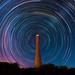 Star Trails at Guilderton Lighthouse, Western Australia by inefekt69