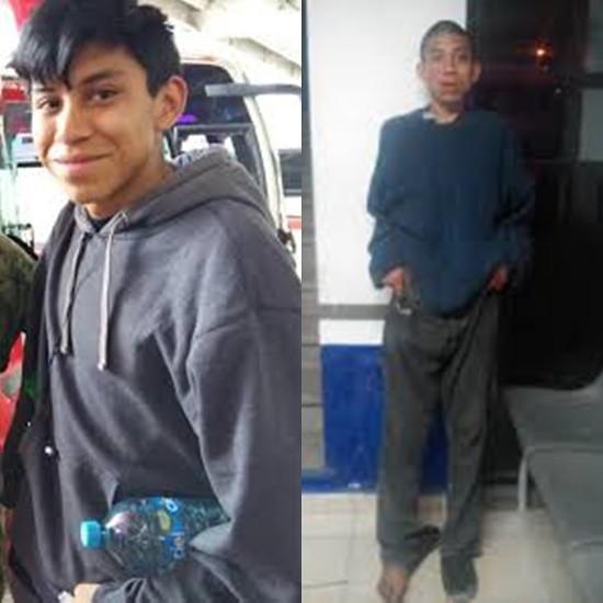 PÁG. 2 (2). El menor Marco Antonio Sánchez Flores, antes y después de la desaparición forzada que sufrió a manos de la policía delincuencial al mando del gobernante sátrapa Miguel Án