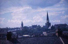Darlington skyline from Bank Topm looking towards St. Cuthbert's Church and town centre