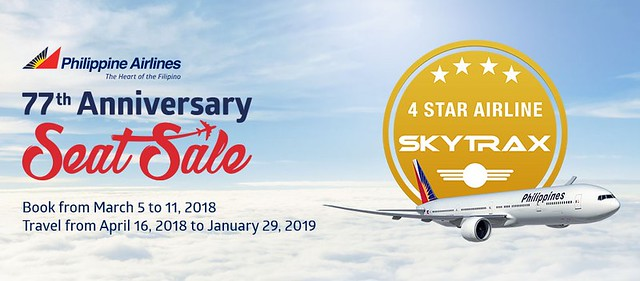 77th Anniversary Philippine Airlines Seat Sale