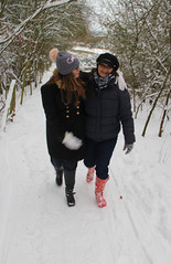 Canon EOS 60D - Becca & Lisa in the Snow, Cadbury Hill, Yatton
