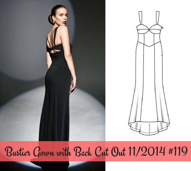 Bustier Gown with Back Cut Out