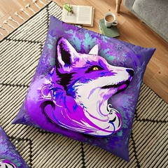 Get up to 20% off #weirdly #meaningful stuff! :purple_heart: Use code SMASH20 on #bluedarkArt's Redbubble Shop :arrow_right: https://www.redbubble.com/people/BluedarkArt/shop     #PurpleFoxSpirit #Purple #Fox #Animal #pillow #floorpillow #animalart #desig