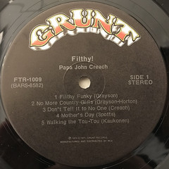 PAPA JOHN CREACH:FILTHY!(LABEL SIDE-A)