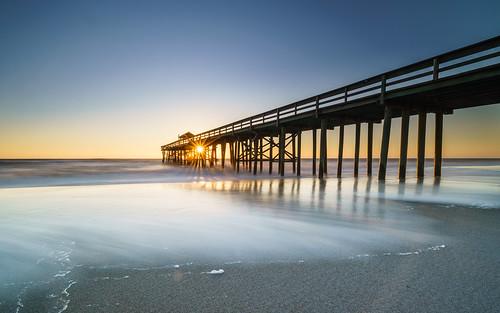 pier fernandinabeach ocean sunrise sunrays sony a7riii fernandina fe1635mmf4 longexposure nisi beach sky water sea atlantic florida ameliaisland