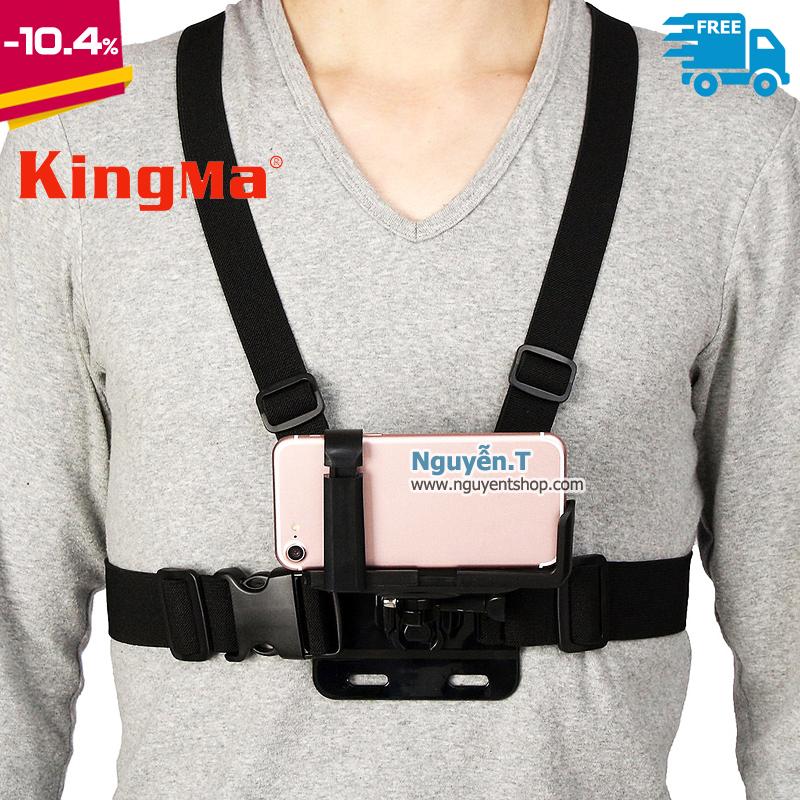 KingMa Dây đeo ngực cho iphone điện thoại kẹp chữ L 2 chiều chống rớt Free size
