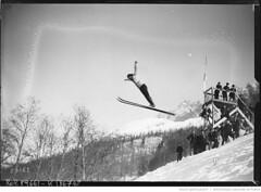 Balmat, champion de France aux Jeux Olympiques d'hiver de Chamonix en 1924. CC BY SA Agence Rol