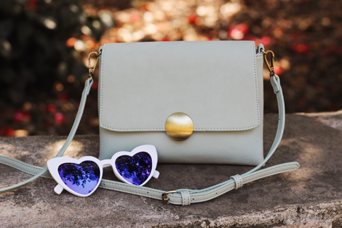 Modcloth Shoulder and Wiser Crossbody Bag Wholeheartedly Darling Sunglasses in White