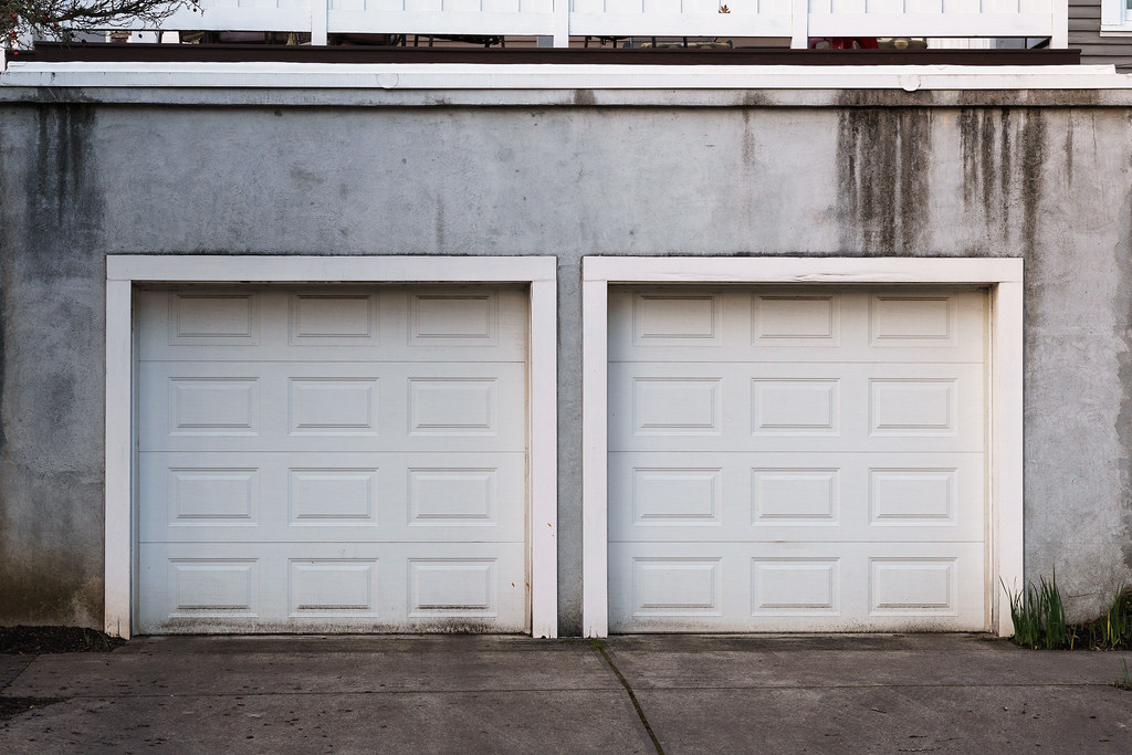 The rare double-car garage in the Irvington neighborhood of Portland, Oregon
