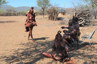 Himba village the chief