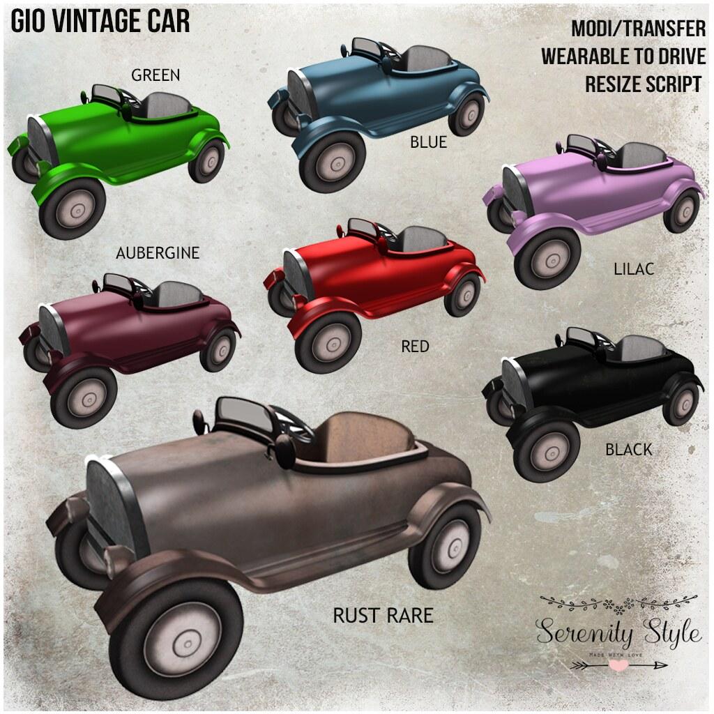 Serenity Style- GIO Vintage Car Gacha