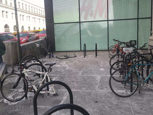 Outdoor bicycle parking at Washington DC Union Station