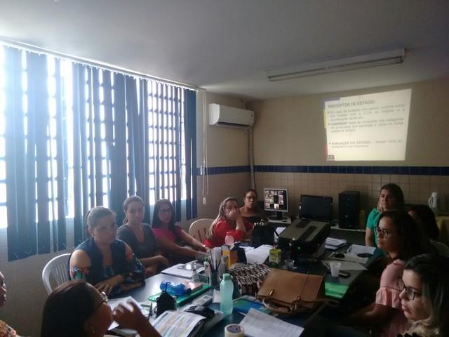 Formação com os professores e coordenação do curso de Enfermagem