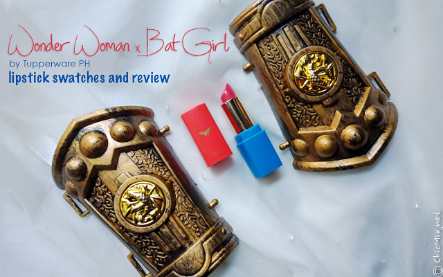 Wonder Woman and Batgirl By Tupperware PH Lipsticks | Review, Price and Swatches