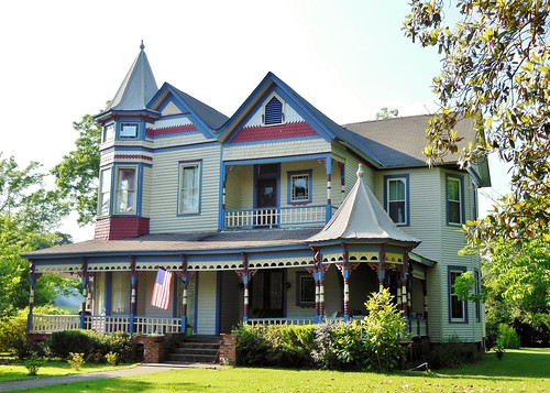 Colorful Victorian Home, Greensboro, Alabama